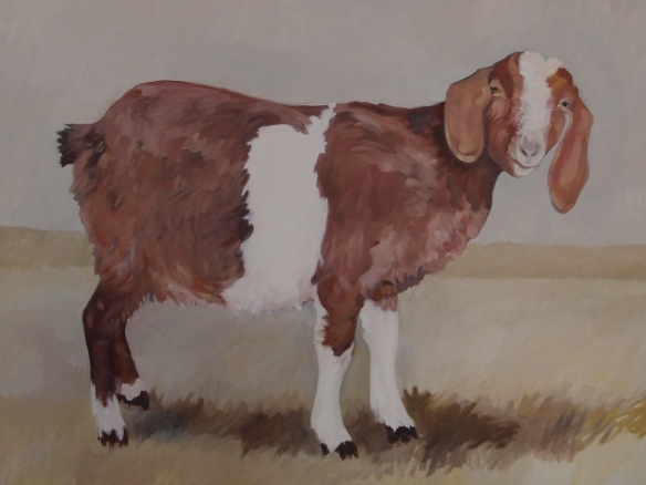 Zena Rogak goat painting